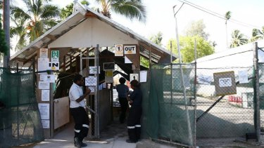 The detention centre on Manus Island.