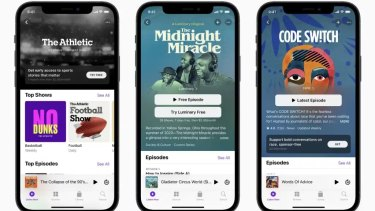 Apple's podcast subscription services come alongside a visual overhaul for its Podcast app.