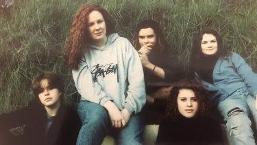 Janelle Johnstone, far left, with fellow members of Spot the Beast.