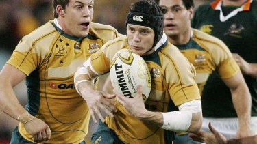 Wallabies great Larkham won every trophy on offer in a 102-Test career.