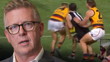 Steve Hocking was clear in his thoughts on David Mackay's bump on Hunter Clark.