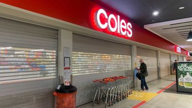 Barkley Square Coles in Melbourne's inner north was also impacted.