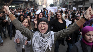 The Middle East saw women differently after the Arab Spring protests.