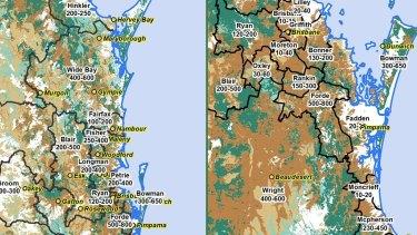 Australia Koala Foundation estimates of south-east Queensland's koala numbers in 2017.