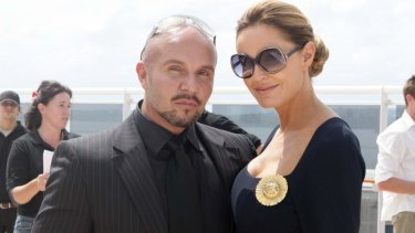 Alex Perry with his friend, the late Charlotte Dawson.