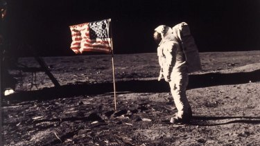 The first moon landing.