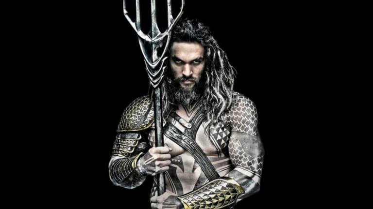 Jason Momoa in a still from his upcoming movie, Aquaman.