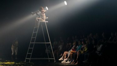 Directing the scenes from the umpire's chair in You Animal, You.
