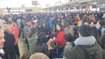 Strong winds causing headaches for Sydney airport, train and ferry users