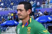Quinton de Kock heads out to the middle for South Africa's match against Australia alongside his captain Temba Bavuma.