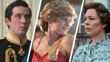 The jewels in The Crown (from left): Josh O'Connor as Prince Charles, Emma Corrin as Princess Diana and Olivia Colman as Queen Elizabeth II.