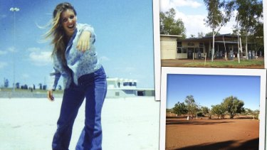 Glenyce McGowan went missing in the Pilbara as a teenager. Inset: Nanutarra Roadhouse, campground. Picture: Supplied