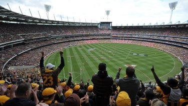 AFL Grand Final 2012 at the MCG Crowds at the MCG.