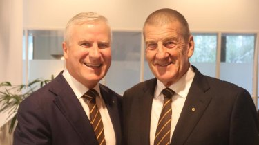 Nationals leader Michael McCormack with former Victorian Liberal Premier Jeff Kennett.