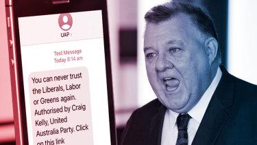 The United Australia Party's Craig Kelly.