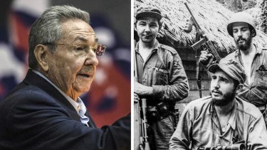 Raul Castro with brother Fidel, and in more recent years.