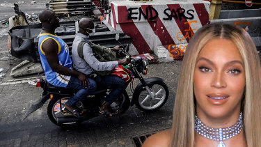 Nigerian protesters were unimpressed by Beyonce's offer to work with a foodbank when they're opposing police brutality.