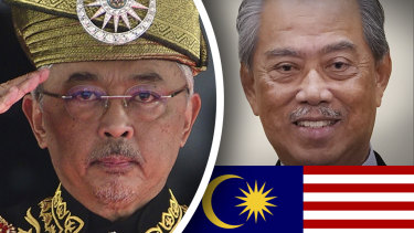 Malaysia's king and Prime Minister Muhyiddin Yassin have been at odds.