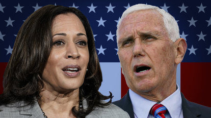 As it happened: Kamala Harris and Mike Pence face off weeks before US election