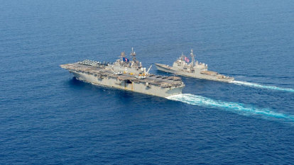Australian, US vessels in South China Sea as China flexes muscles