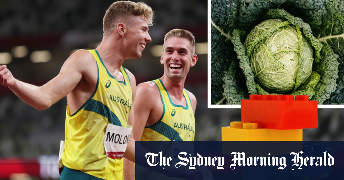 Saying thank you for one of the best moments of the Games ... with a cabbage