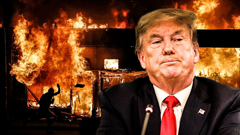 As America burns, Trump falls short at another crisis