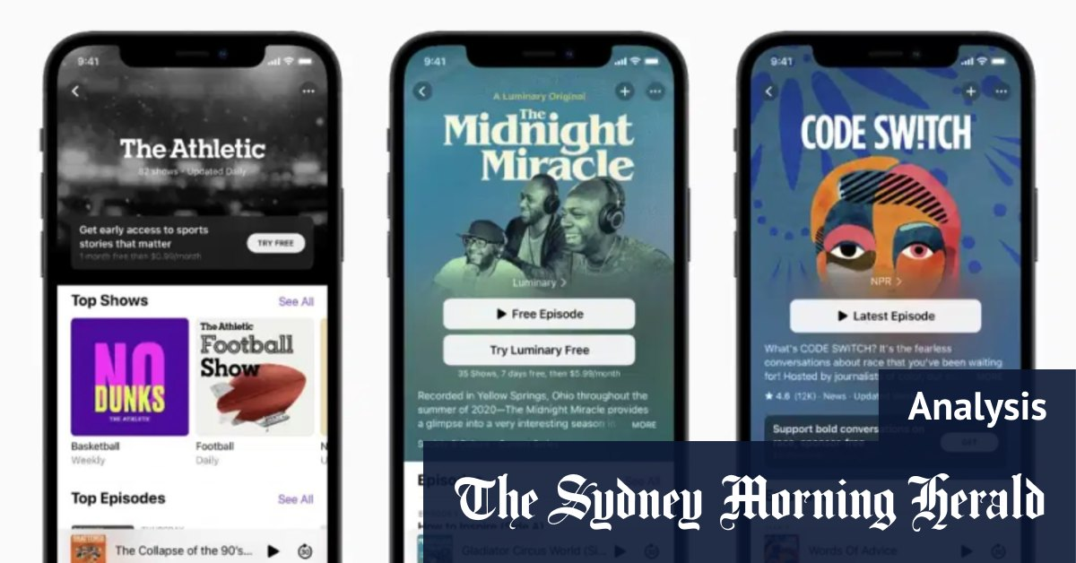 Apple on collision course with Tile Patreon and Spotify with new products – Sydney Morning Herald
