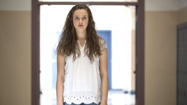 Australian actress Katherine Langford as Hannah Baker in <i>13 Reasons Why</i> season one.