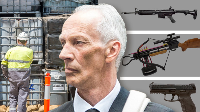 'Unthinkable damage': Man jailed over huge, illegal weapons cache