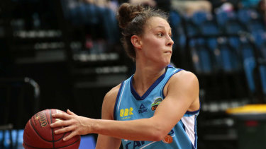 Transcontinental: Stephanie Talbot has come straight from the US to join the Opals.
