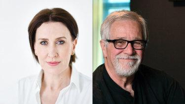 Melbourne radio hosts Virginia Trioli and Neil Mitchell.