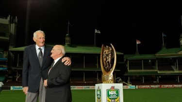 Icon: Norm Provan (left) with Arthur Summons.
