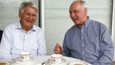 The last photo of Bob Hawke and Paul Keating together.