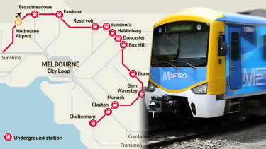 The Labor Government's proposed middle-surburban rail loop.