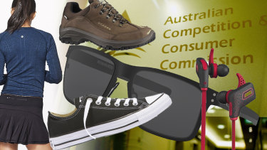 Some of the items bought by ACCC staff with their taxpayer-funded healthy lifestyle allowance.