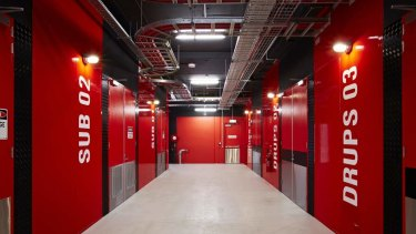 The DRUPS room at a NextDC data centre.