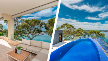 The multi-million dollar views from Bindaring Parade duplex in Claremont.