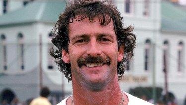 Australian cricketer Dennis Lillee in 1978.