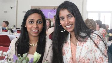 Chathudila Weerasinghe (left) and her friendUstashia Pillay in 2017.