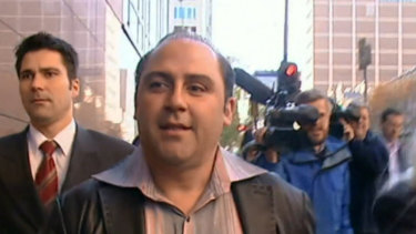 Tony Mokbel outside of court before he was jailed for 30 years for drug trafficking.