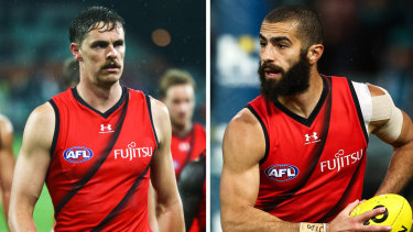 Essendon pair Joe Daniher and Adam Saad. Both want out.