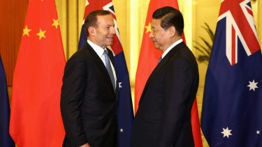 Tony Abbott signed a historic free trade agreement with China's Xi Jinping in 2015.