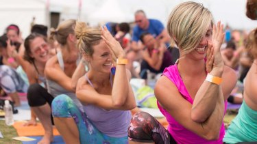 Yoga at the Wanderlust Festival 2014 in Melbourne.