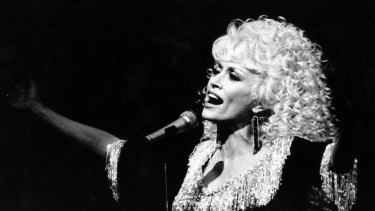 Dolly Parton at the Sydney Entertainment Centre in 1987.