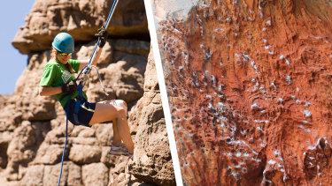 Climbers have been accused of damaging rock art.
