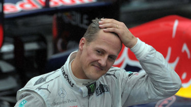 Stricken: Michael Schumacher hasn't been seen in public since a skiing accident in late 2013.