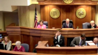 The Senate in the US state of Alabama. whch has passed a near-total ban on abortion.