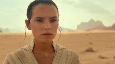 Daisy Ridley as Rey in The Rise of Skywalker.