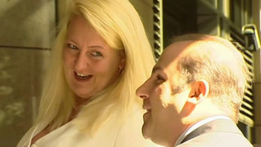 Nicola Gobbo and her one-time client, Tony Mokbel, in happier days.
