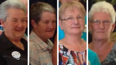 The four women killed in the Navarre crash: (from left) Tess Ely , Dianne Barr, Claudia Jackson and Elaine Middleton.